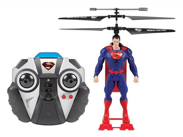 World Tech Toys DC Comic Superheroes 2CH IR Helicopter 超级英雄双螺旋桨遥控飞机,这玩意算是个遥控飞机吧,在蝙蝠侠、超人和小丑的脑袋上装了两个螺旋浆,然后通过手柄就可以玩了。遥控飞机是充电的,可以直接通过USB口来充,遥控手柄需要两节电池。其实就是个遥控飞机,不过关键是螺旋桨下面的玩偶,尤其是小丑,实在是太帅了。 这玩意WOOT正在特价,分别有蝙蝠侠、超人和小丑三个,都是18.