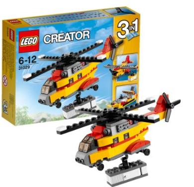 lego乐高creator创意三合一积木拼装玩具 货物直升机31029 新低价927