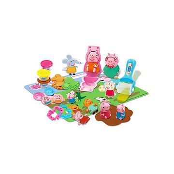 peppa pig 小猪佩奇 彩泥佩奇与朋友们套装 过家家玩具 儿童生日礼物