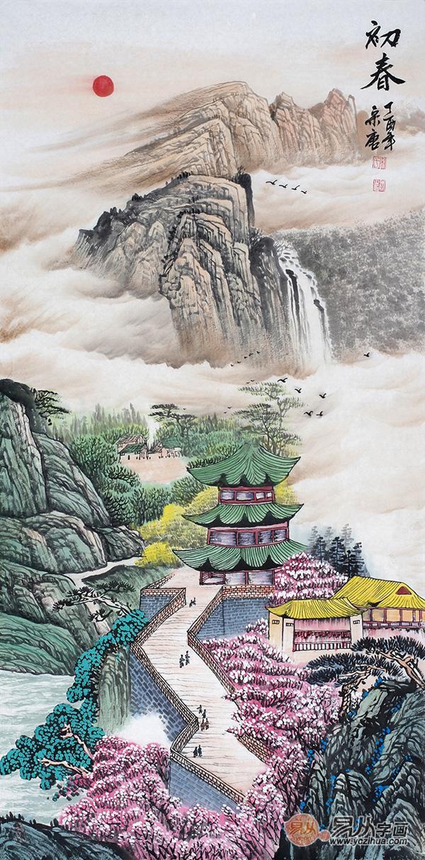 玄关放什么画?山水国画装饰美丽更艺术!